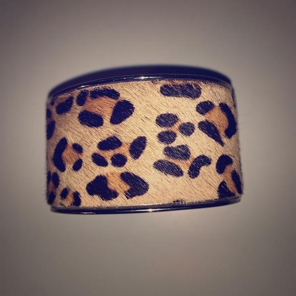 Express Jewelry - Leopard print cuff bracelet